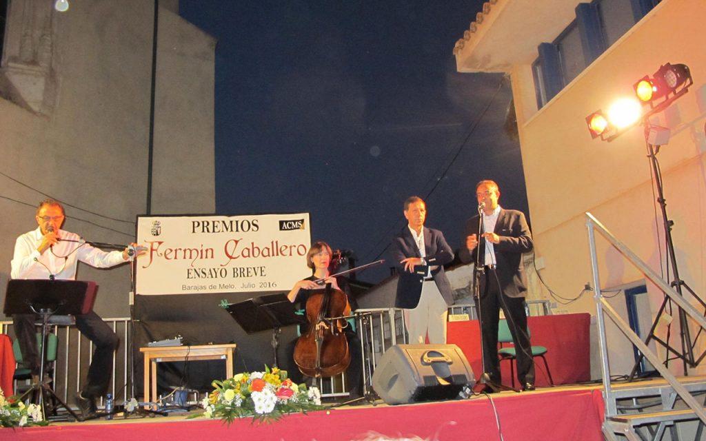 Barajas de Melo Cuenca acto de entrega del XV Premio de Ensayo Breve en Ciencias Sociales Fermín Caballero